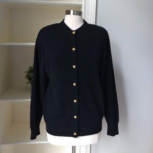 Neiman Marcus Cashmere Sweater Large Vintage Black